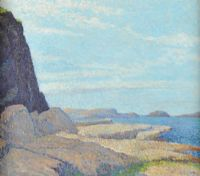 THE CLIFFS, BALLINTOY by Seamus Stoupe at Ross's Auctions