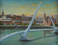 THE PEACE BRIDGE by Sean Loughrey at Ross's Auctions