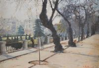 PARK SCENE by Charles Rake at Ross's Auctions