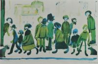 STREET SCENE by Laurence Stephen Lowry RA at Ross's Auctions
