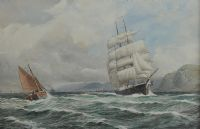 OUTWARD BOUND, BELFAST LOUGH by Joseph William  Carey RUA at Ross's Auctions