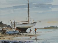 AT THE WATER'S EDGE, STRANGFORD LOUGH by Alan Beers at Ross's Auctions