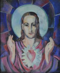 THE SACRED HEART by Father Jack P. Hanlon RHA at Ross's Auctions