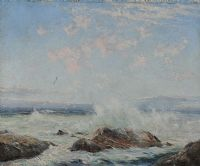 ROUGH SEAS, WEST OF IRELAND by Charles A. Miles ARHA at Ross's Auctions