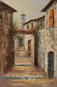 COURTYARD GARDEN by Spanish School at Ross's Auctions