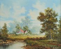 PATH BY THE RIVER by E. Stylor at Ross's Auctions