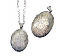 STERLING SILVER CHAIN AND TWO LOCKETS at Ross's Jewellery Auctions