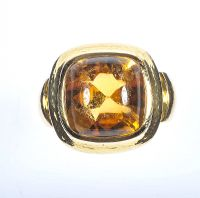 DE VROOMEN 18 CT GOLD CITRINE RING by Citrine at Ross's Auctions
