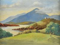 CASTLE BY THE LOUGH by Louis Affolter at Ross's Auctions