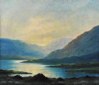 EVENING, NEAR THE BLACK VALLEY, KERRY by Douglas Alexander RHA at Ross's Auctions