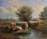 SALISBURY MEADOW by Henry Charles Bryant at Ross's Auctions