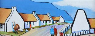 BLUE STACK ROW by Cecil Geddis at Ross's Auctions