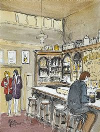 McDAID'S BAR, HARRY STREET, DUBLIN by Pete Hogan at Ross's Auctions