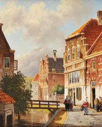 VILLAGE SCENE by Jan Beekhout at Ross's Auctions