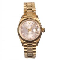 LADY'S 18 CT GOLD ROLEX WRIST WATCH by Wrist Watches at Ross's Auctions