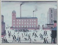 THE FACTORY by Laurence Stephen Lowry RA at Ross's Auctions
