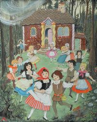 THE GINGERBREAD HOUSE by Patience Arnold at Ross's Auctions