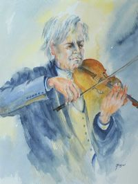 THE IRISH FIDDLER by Joan Kingan at Ross's Auctions