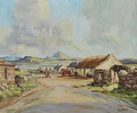 ERRIGAL FROM GOLA ISLAND by Hugh Largey at Ross's Auctions