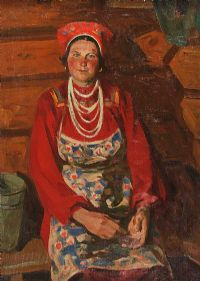 RUSSIAN MILKMAID by E. Camsonov at Ross's Auctions