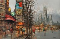 PARIS STREET SCENE by Bruno Nardini at Ross's Auctions