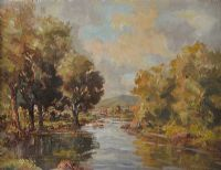 RIVER IN AUTUMN by Henry J. Foy at Ross's Auctions