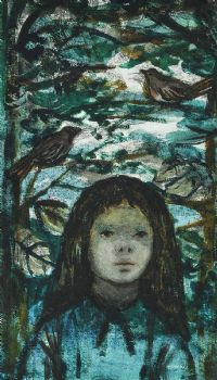 GIRL WITH BIRDS by Cherith McKinstry RUA at Ross's Auctions