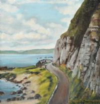 THE ANTRIM COAST ROAD by Patrick McElhinney at Ross's Auctions