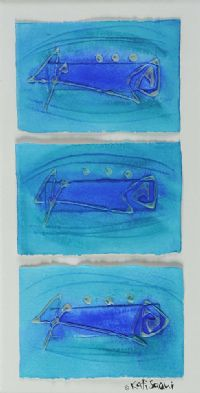 BLUE ABSTRACT by Kati Saqui at Ross's Auctions