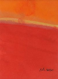 RED LANDSCAPE by Kati Saqui at Ross's Auctions