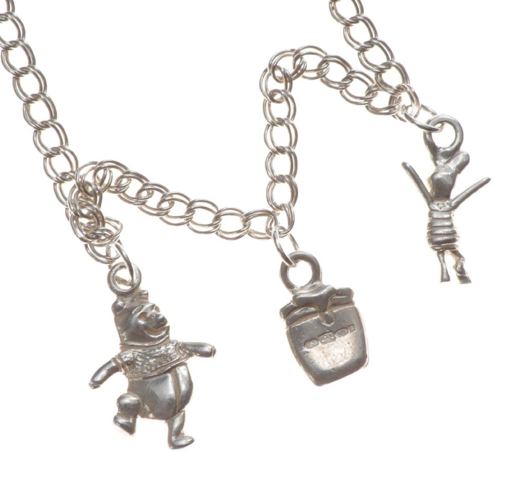 Sterling Silver Winnie The Poo Charm Bracelet At Ross S Online Art Auctions