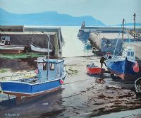 PURTEEN HARBOUR, ACHILL by Cecil Maguire RUA at Ross's Auctions