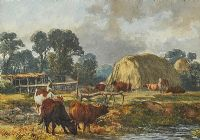 CATTLE FEEDING by Alfred Grey at Ross's Auctions