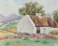 IRISH THATCHED COTTAGE by A.L. Watson at Ross's Auctions