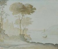 LANDING AFTER CLAUDE LORRAIN by Nigel Hughes at Ross's Auctions
