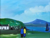 COASTGUARD COTTAGE, DOWNINGS by Eileen Gallagher at Ross's Auctions