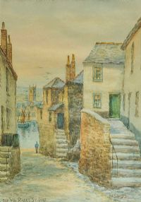 OLD FISH STREET, ST IVES by W. Sands at Ross's Auctions
