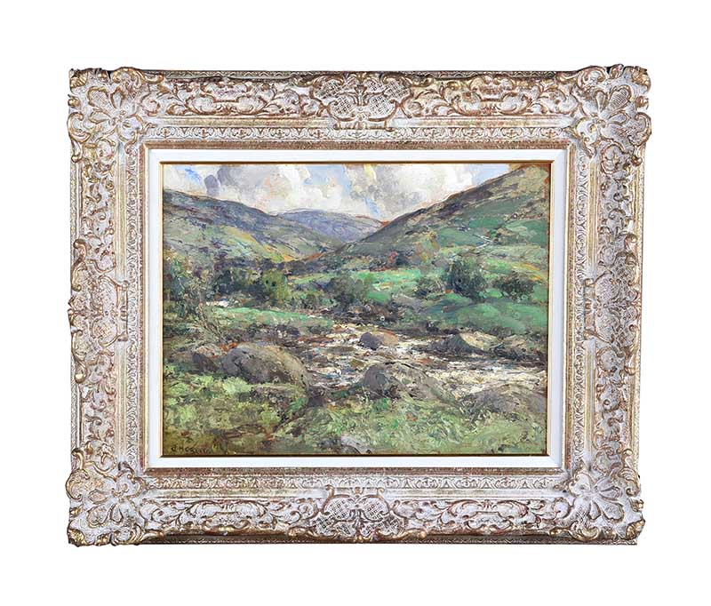 RIVER IN THE GLENS OF ANTRIM by James Humbert Craig RHA RUA at Ross's Online Art Auctions
