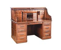VICTORIAN MAHOGANY ROLL TOP DESK