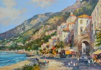 AMALFI, NAPLES, ITALY by Colin Gibson at Ross's Auctions