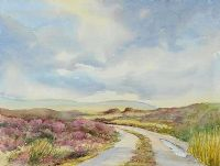 ROAD THROUGH THE BOGLANDS by Edna Murray at Ross's Auctions