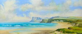 FAIRHEAD FROM BALLYCASTLE by Robert T.  Cochrane at Ross's Auctions