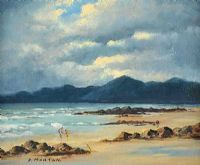 THE MOURNES ACROSS TYRELLA by Deidre Morton (The Wife of W.H. Morton) at Ross's Auctions