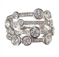 18CT WHITE GOLD AND DIAMOND RING IN THE STYLE OF BOODLES at Ross's Auctions