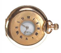 9CT GOLD HALF HUNTER POCKET WATCH at Ross's Auctions
