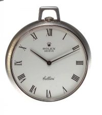 ROLEX 'CELLINI' 18CT WHITE GOLD FOB WATCH by Pocket & Fob Watches at Ross's Auctions