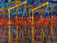 HARLAND & WOLFF ABSTRACT by John Stewart at Ross's Auctions