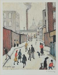 BACK STREET, MANCHESTER by Laurence Stephen Lowry RA at Ross's Auctions