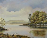 SCRABO FROM THE BRIDGE AT MAHEE ISLAND by Desmond Reid at Ross's Auctions