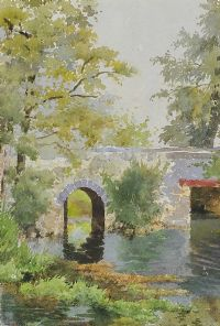 THE MALT HOUSE BRIDGE, RATHANGAN by Lilian Lucy Davidson ARHA at Ross's Auctions